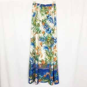 Flying Tomato tropical print maxi skirt S